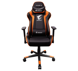 Slika izdelka: GIGABYTE AORUS Gaming Chair AGC300 V2 Black + Orange, headrest & lumbar cushion, 120kg max load